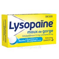 LysopaÏne Comprimés à Sucer Maux De Gorge Sans Sucre 2t/18 à MONTEUX