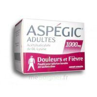 Aspegic Adultes 1000 Mg, Poudre Pour Solution Buvable En Sachet-dose 20 à MONTEUX