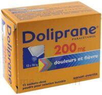 Doliprane 200 Mg Poudre Pour Solution Buvable En Sachet-dose B/12 à MONTEUX