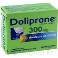 Doliprane 300 Mg Poudre Pour Solution Buvable En Sachet-dose B/12 à MONTEUX