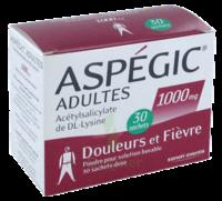 Aspegic Adultes 1000 Mg, Poudre Pour Solution Buvable En Sachet-dose 30 à MONTEUX