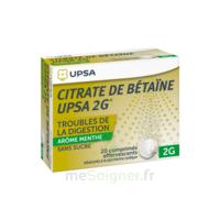 Citrate De Bétaïne Upsa 2 G Comprimés Effervescents Sans Sucre Menthe édulcoré à La Saccharine Sodique T/20 à MONTEUX