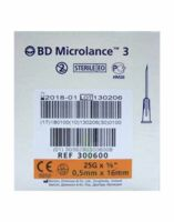 BD MICROLANCE 3, G25 5/8, 0,5 mm x 16 mm, orange  à MONTEUX