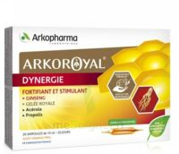 Arkoroyal Dynergie Ginseng Gelée royale Propolis Solution buvable 20 Ampoules/10ml à MONTEUX