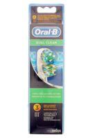 BROSSETTE DE RECHANGE ORAL-B DUAL CLEAN x 3 à MONTEUX