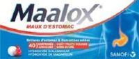 Maalox Maux D'estomac Hydroxyde D'aluminium/hydroxyde De Magnesium 400 Mg/400 Mg Sans Sucre Fruits Rouges, Comprimé à Croquer édulcoré à La Saccharine Sodique, Au Sorbitol Et Au Maltitol à MONTEUX