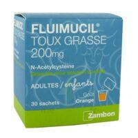 Fluimucil Expectorant Acetylcysteine 200 Mg Sans Sucre, Granulés Pour Solution Buvable En Sachet édulcorés à L'aspartam Et Au Sorbitol à MONTEUX