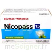 Nicopass 1,5 Mg Pastille Sans Sucre Menthe Fraîcheur Plq/96 à MONTEUX