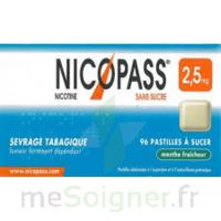 Nicopass 2,5 Mg Pastille Menthe Fraîcheur Sans Sucre Plq/36 à MONTEUX