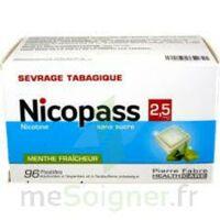 Nicopass 2,5 Mg Pastille Menthe Fraîcheur Sans Sucre Plq/96 à MONTEUX