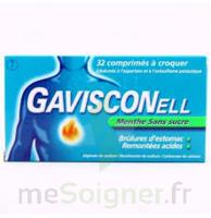 Gavisconell Coprimés à Croquer Sans Sucre Menthe édulcoré à L'aspartam Et à L'acésulfame Potas Plq/24 à MONTEUX