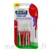 Gum Trav - Ler, 0,8 Mm, Manche Rouge , Blister 4 à MONTEUX