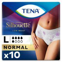 Tena Lady Silhouette Slip Absorbant Blanc Normal Large Paquet/10 à MONTEUX